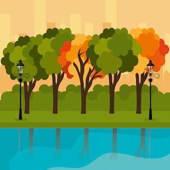 都市公園のデザイン。