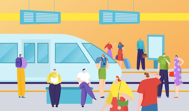 Городской общественный транспорт Premium векторы