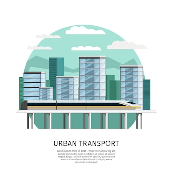 Urban railway transport orthogonal design
