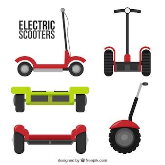 Городские скутеры с плоским дизайном