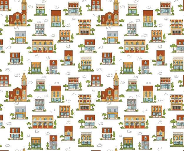 Urban seamless pattern