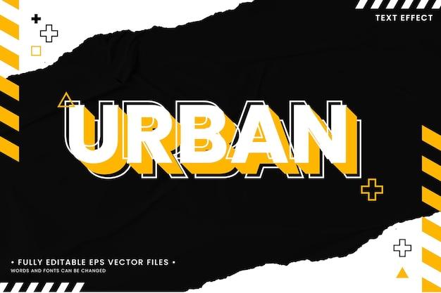 Urban style editable text effect
