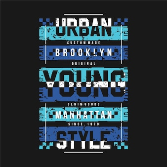 Urban young style typography abstract sport graphic illustration for print t shirt