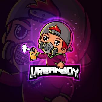 Городской талисман киберспорт красочный логотип