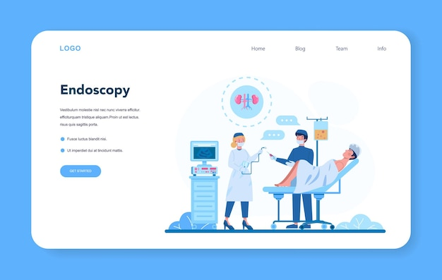 Urologist web banner or landing page