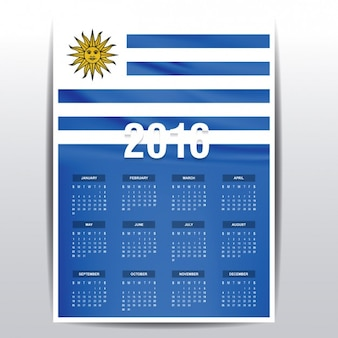 Uruguay calendar of 2016
