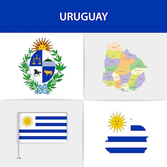우루과이 국기지도 및 국장