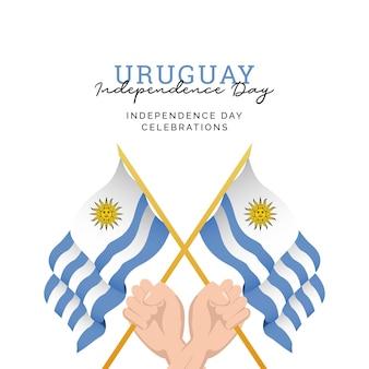 День независимости уругвая шаблон оформления баннеров празднования национального дня уругвая