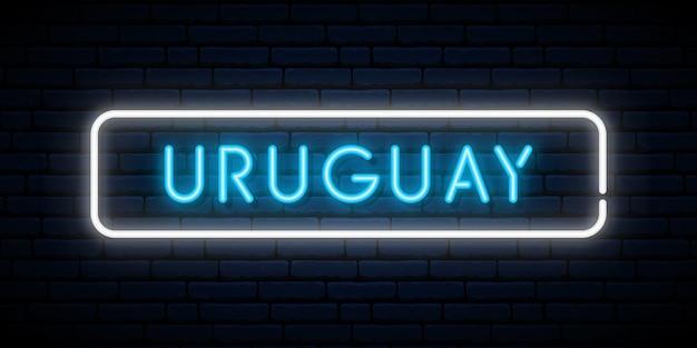 Uruguay neon sign