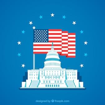 Наше конгрессное здание с плоским дизайном