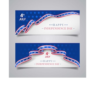 Us independence day banners