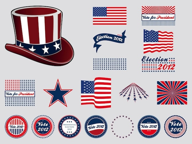 Us presidential election badges