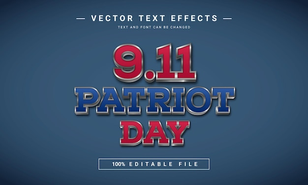 アメリカ911愛国者の日のテキスト効果