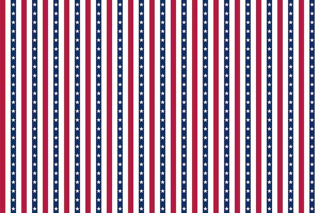 Usa background with elements of the american flag. abstract seamless pattern design for independence day fourth of july.