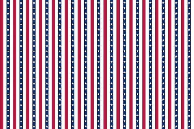 アメリカの国旗の要素を持つアメリカの背景。 7月4日の独立記念日の抽象的なシームレスパターンデザイン。