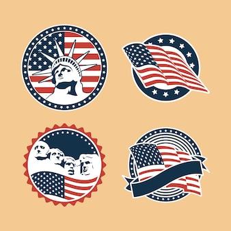 Usa badges set