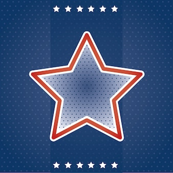 Usa card with star