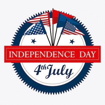 Usa design. independence day 4th july