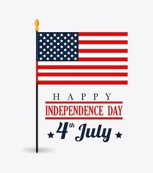 미국 디자인. 독립 기념일 7 월 4 일