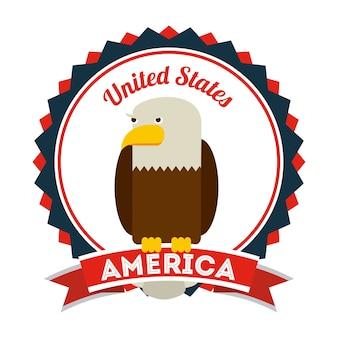 Usa emblem design, vector illustration eps10 graphic