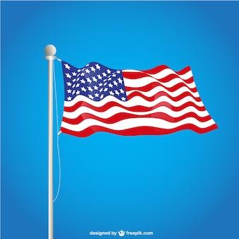 Usa flag over blue background