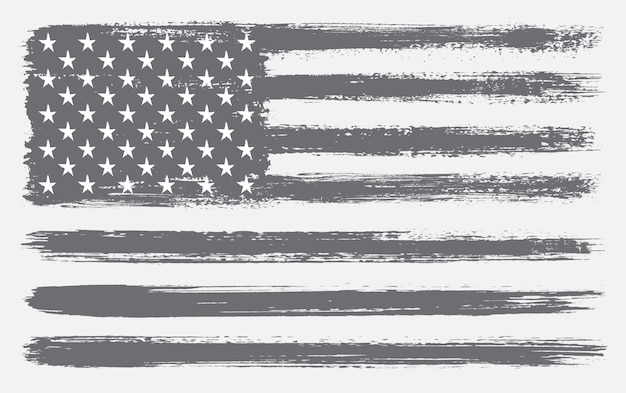 Usa flag made with brushes