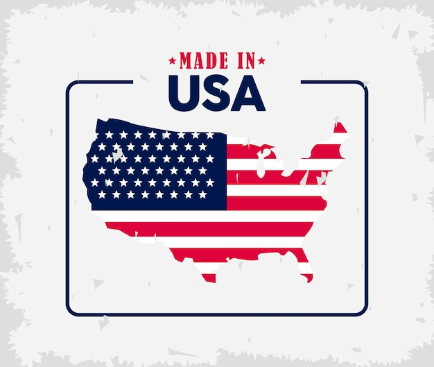 미국 국기지도
