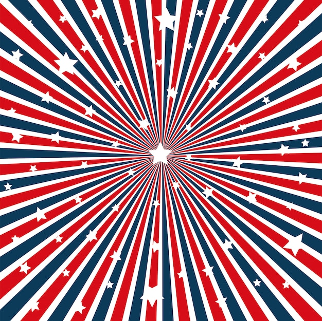 Usa flag pattern background