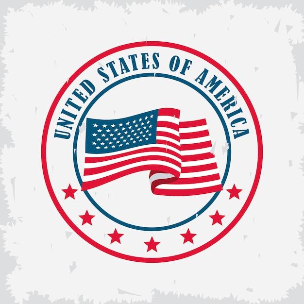 Usa flag seal