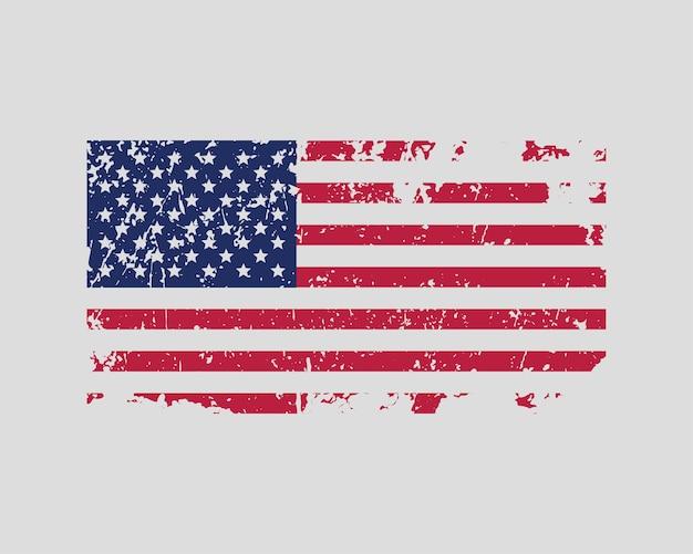 미국 국기 벡터입니다. 현대적인 스타일의 아메리카 합중국 상징입니다. 미국 배너 디자인 요소입니다.