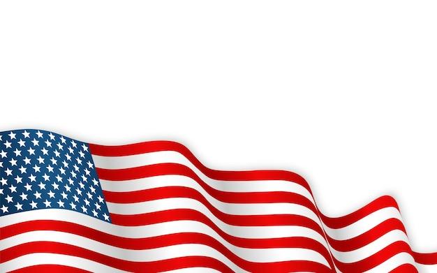 Usa flag waving on the wind.