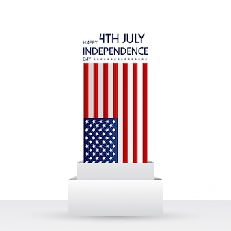 Usa happy independence day vector illustration.
