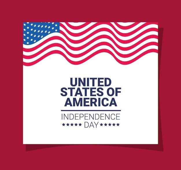 Usa independence card