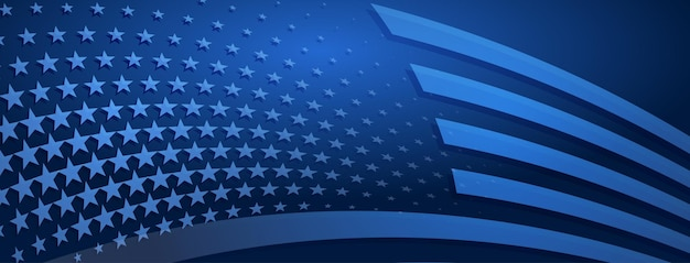 Usa independence day abstract background with elements of american flag in blue colors