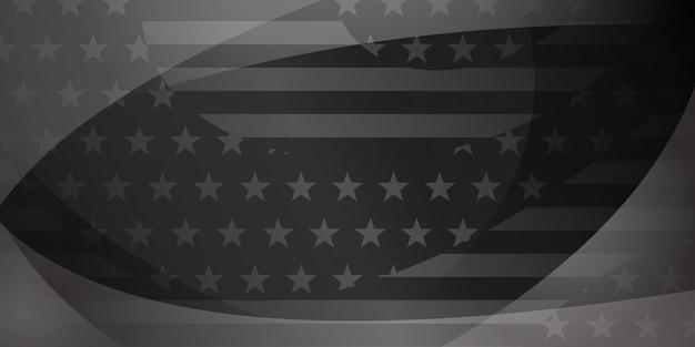 Usa independence day abstract background with elements of american flag in gray and black colors