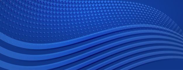 青い色のアメリカ国旗の要素と米国独立記念日の抽象的な背景