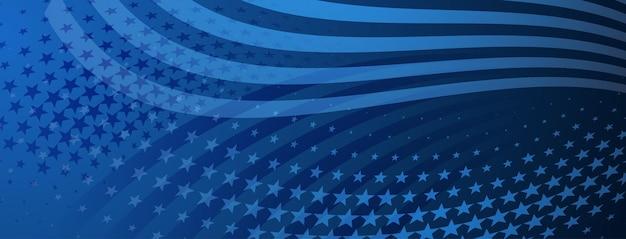 День независимости сша абстрактный фон с элементами американского флага в голубых тонах