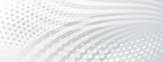 灰色のアメリカ国旗の要素と米国独立記念日の抽象的な背景