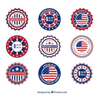 미국 독립 기념일 배지 수집