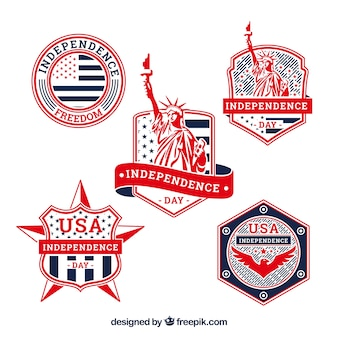 Usa independence day badge collection