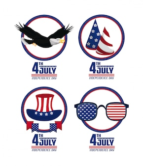 Usa independence day cards