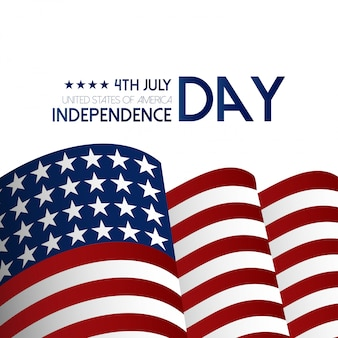 USA Independence day design with light background and flag design vector