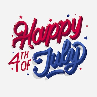 Usa independence day lettering concept