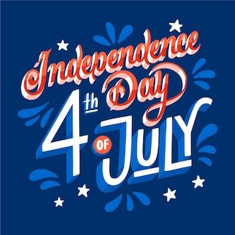 アメリカ独立記念日レタリング