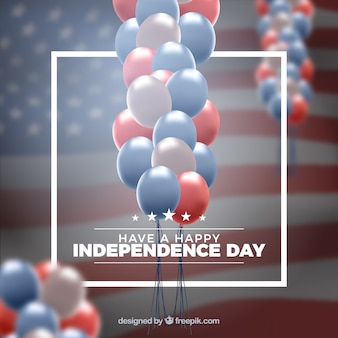 Usa independence day's realistic balloons