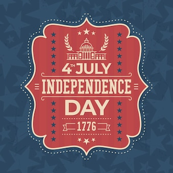미국 독립 기념일 빈티지 라벨 디자인