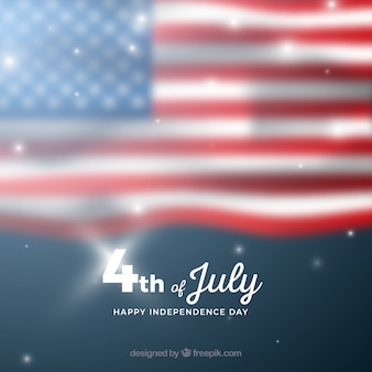 Usa independence day with blurred flag