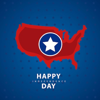 День независимости сша с картой