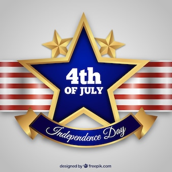 Usa independence day withgolden stars