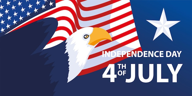Usa independence day Premium Vector